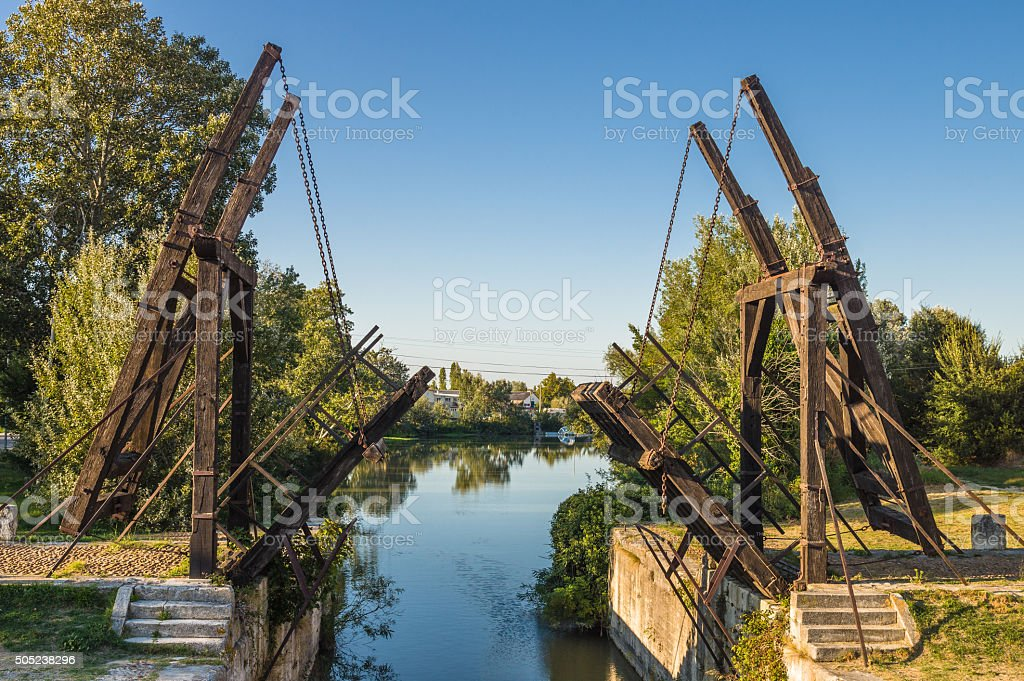 Van Gogh drawbridge stock photo