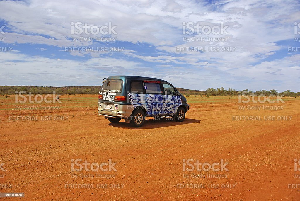 Van in Central Australia royalty-free stock photo