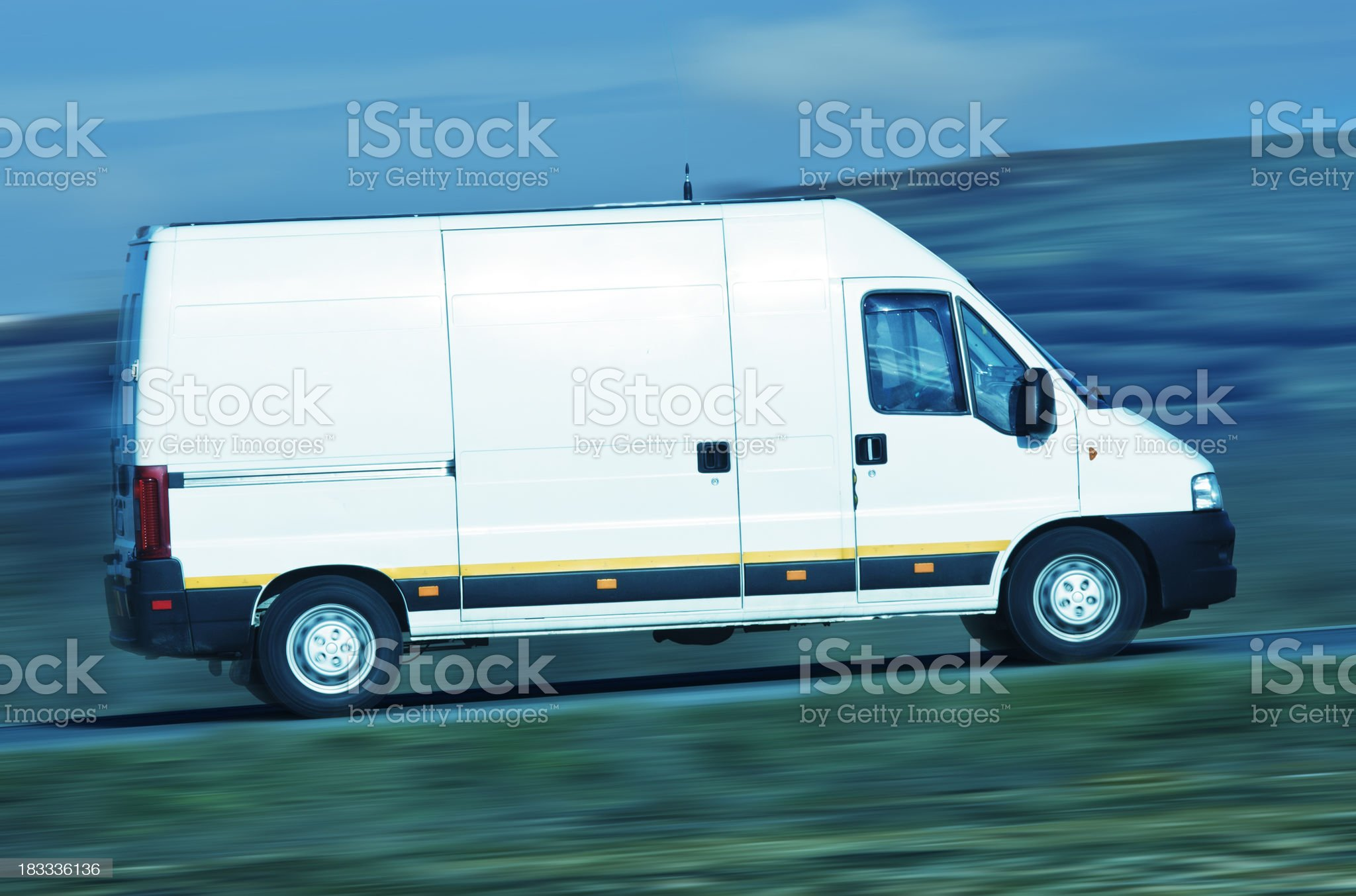 van in full lenght royalty-free stock photo