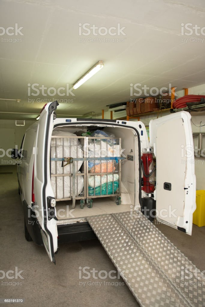 Van Loaded For Delivery stock photo