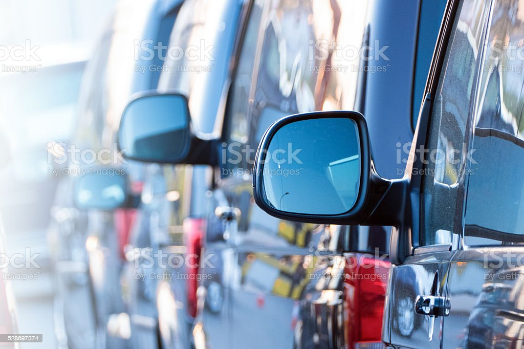 van side mirror stock photo