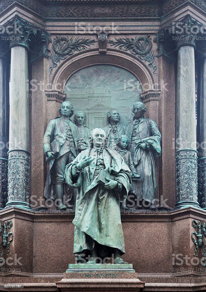 Van Swieten memorial in Vienna stock photo