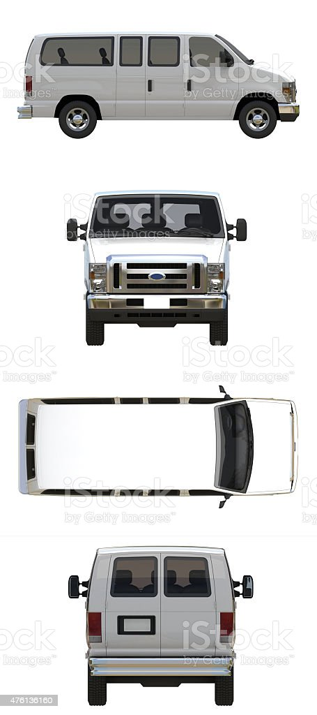 Van - Vehicle white stock photo