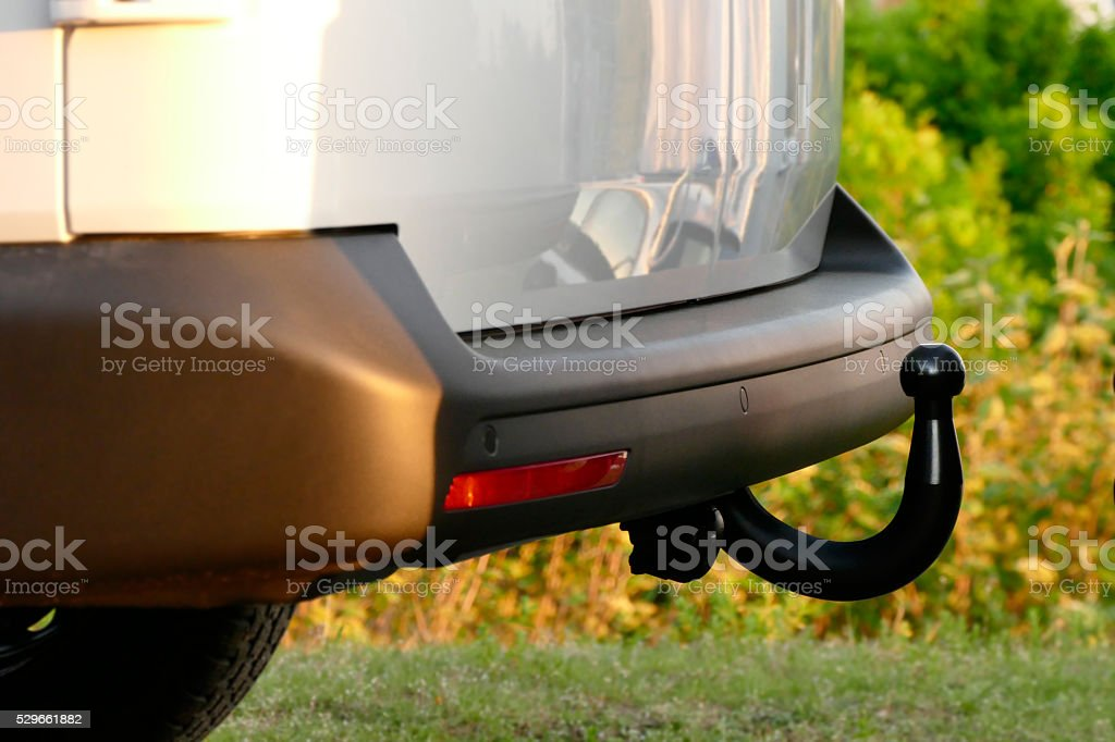 Van with trailer coupling stock photo