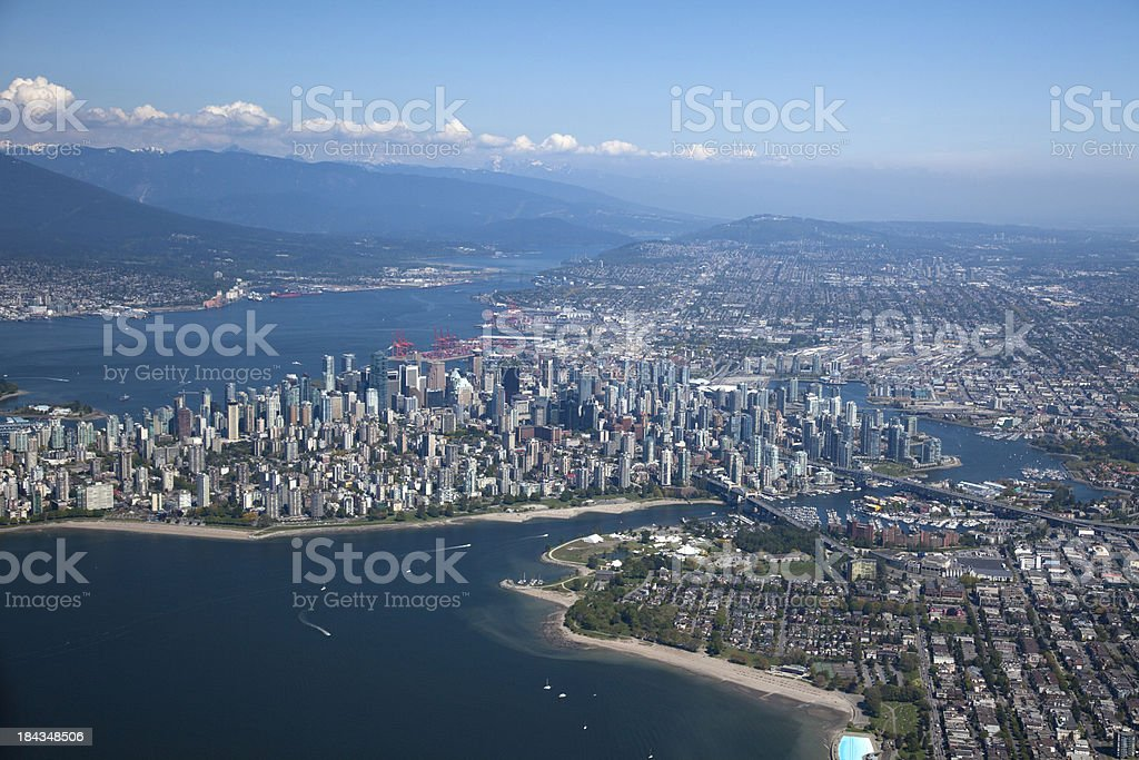 Vancouver Aerial Photo royalty-free stock photo