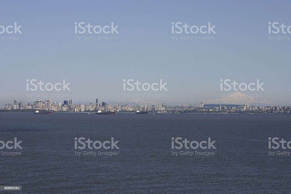 Vancouver and Mt Baker Vista #2 royalty-free stock photo