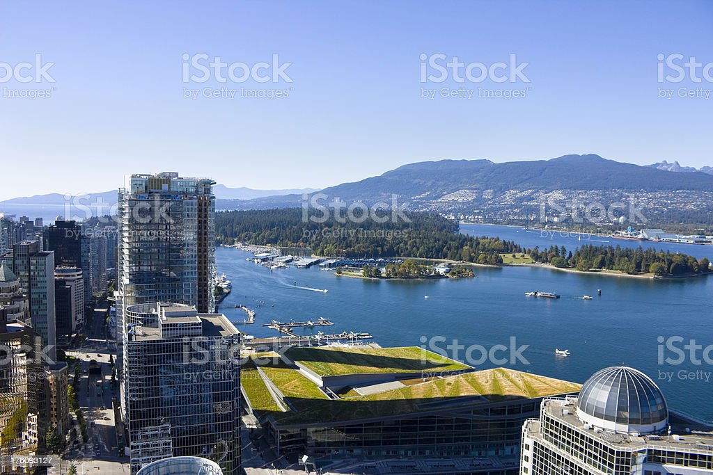 Vancouver and Stanley Park stock photo