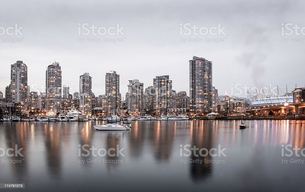 Vancouver apartments royalty-free stock photo