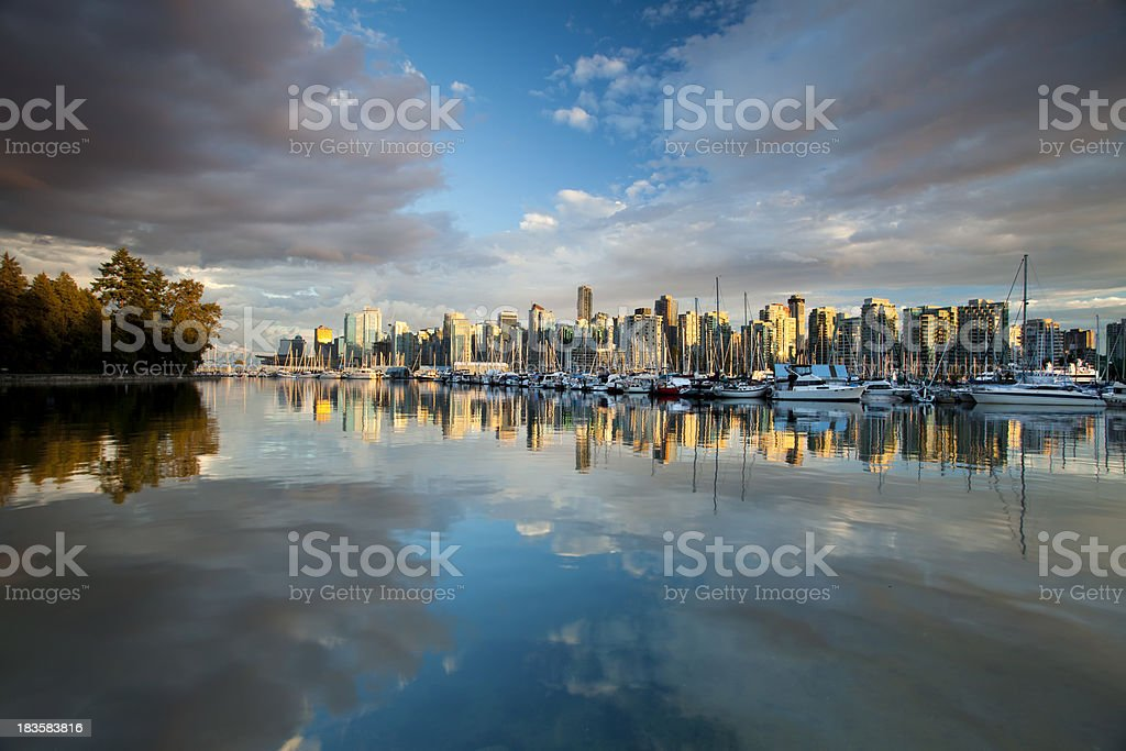 Vancouver BC cityscape royalty-free stock photo