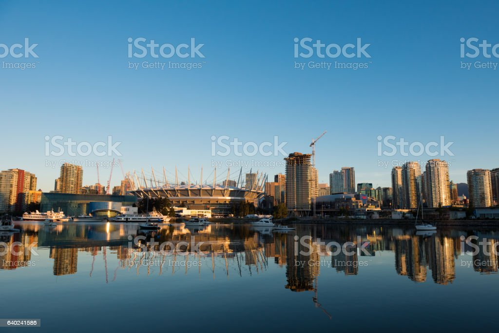 Vancouver, BC in daytime stock photo