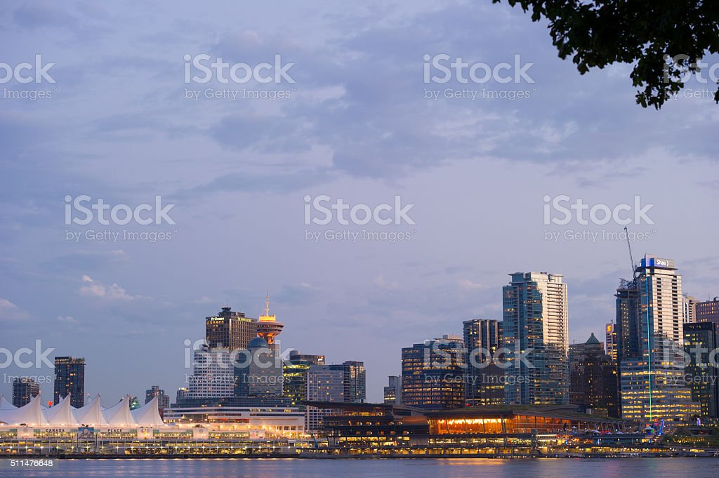 Vancouver, BC Skyline stock photo