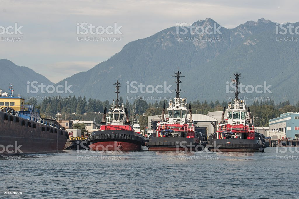 Vancouver, BC Tugboats stock photo