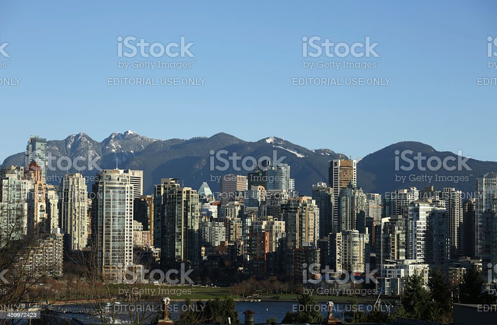 Vancouver, British Columbia, the West Coast City in Autumn royalty-free stock photo