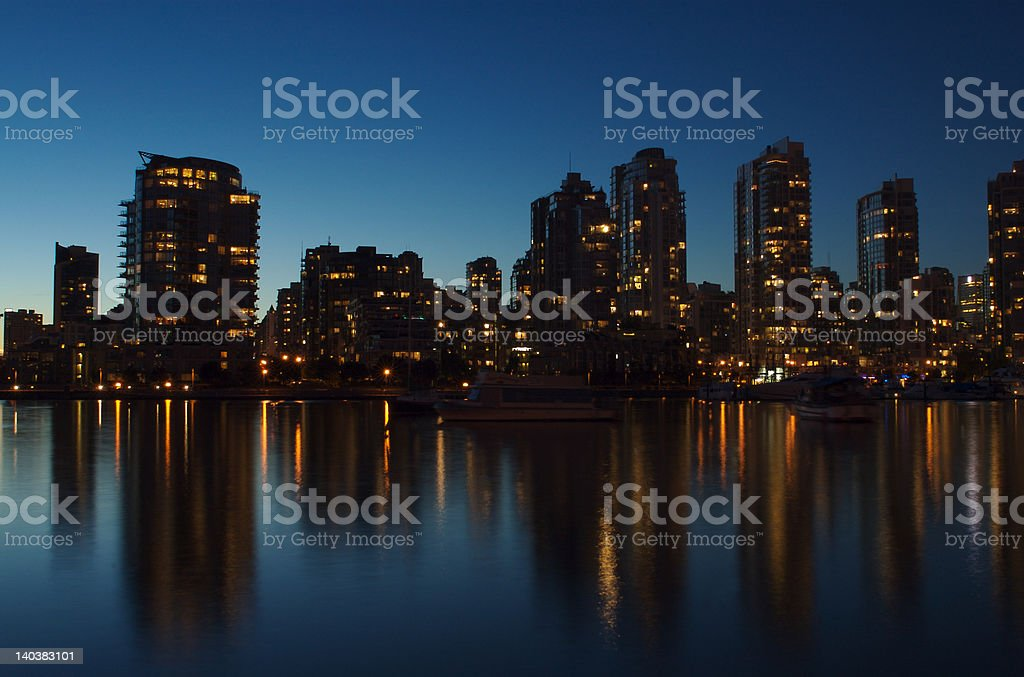 Vancouver by night royalty-free stock photo