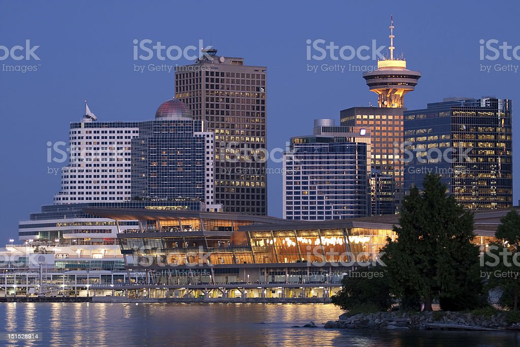 Vancouver Central Business District stock photo