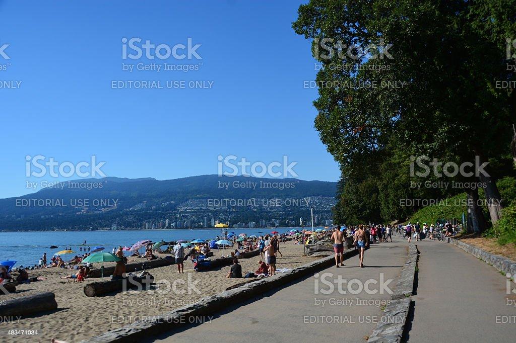 Vancouver city beach stock photo