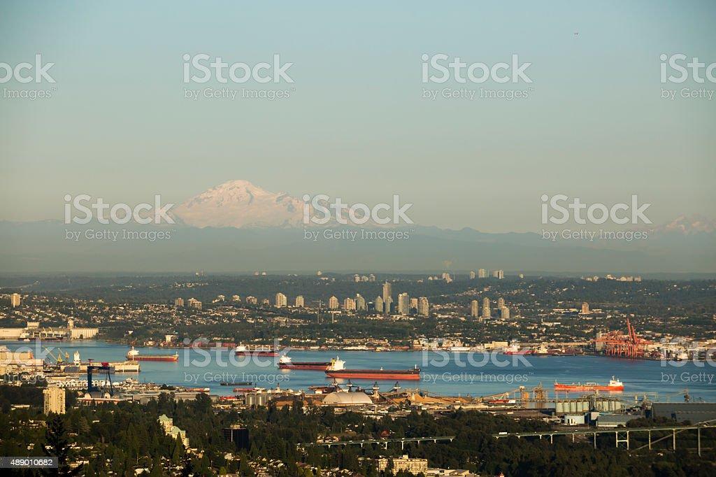 Vancouver City British Columbia Canada stock photo