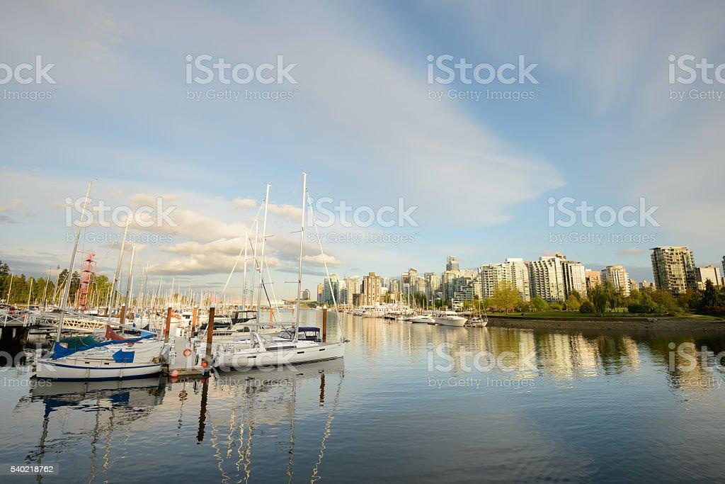 Vancouver city harbour stock photo