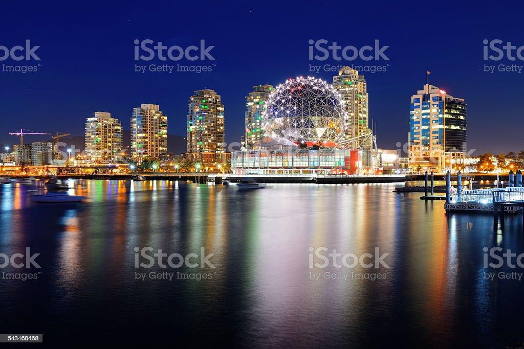 Vancouver city night stock photo