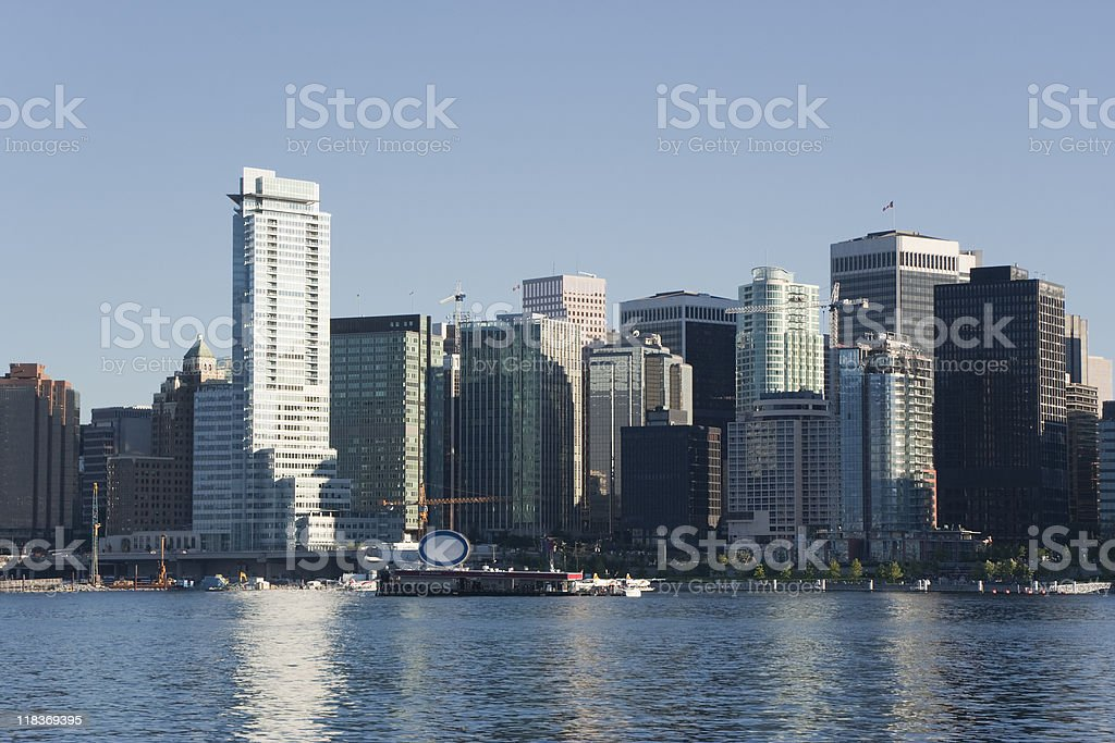 Vancouver City Skyline and Coal Harbour royalty-free stock photo