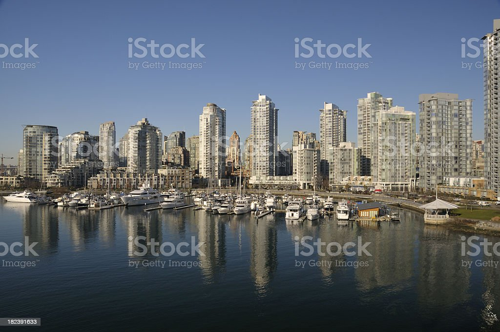 Vancouver city skyline royalty-free stock photo