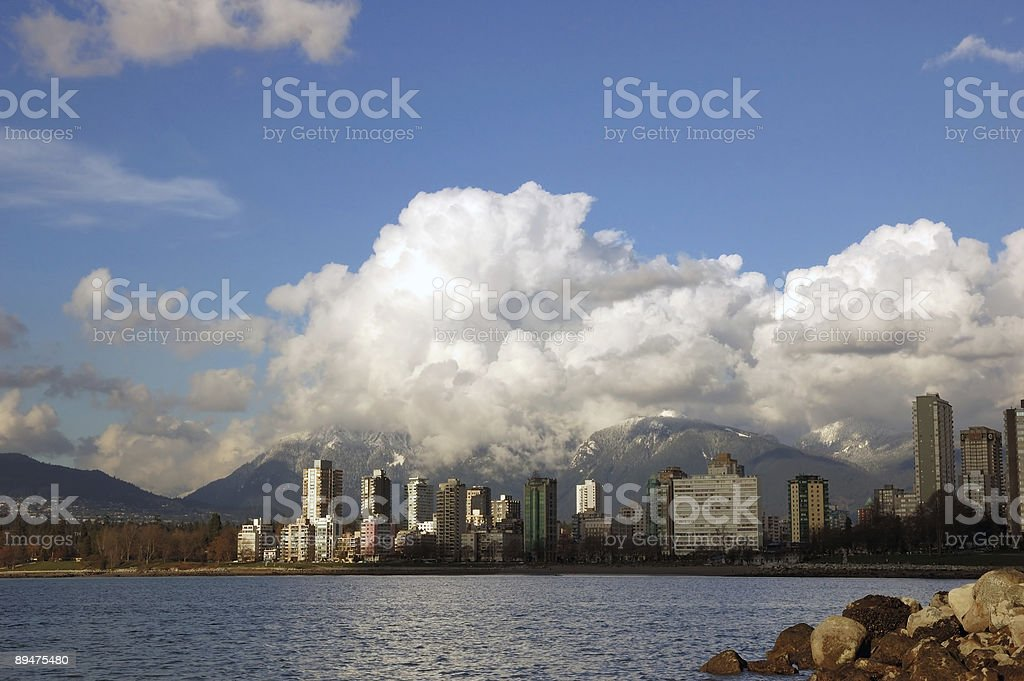 vancouver city view royalty-free stock photo