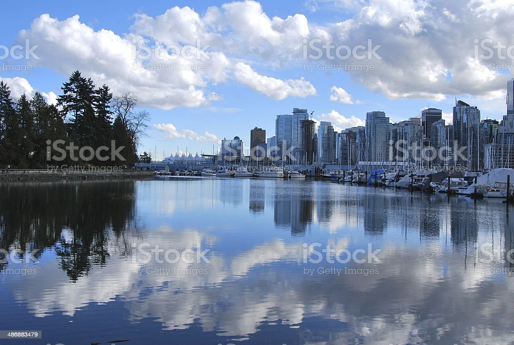 Vancouver Cityscape and its Reflection stock photo