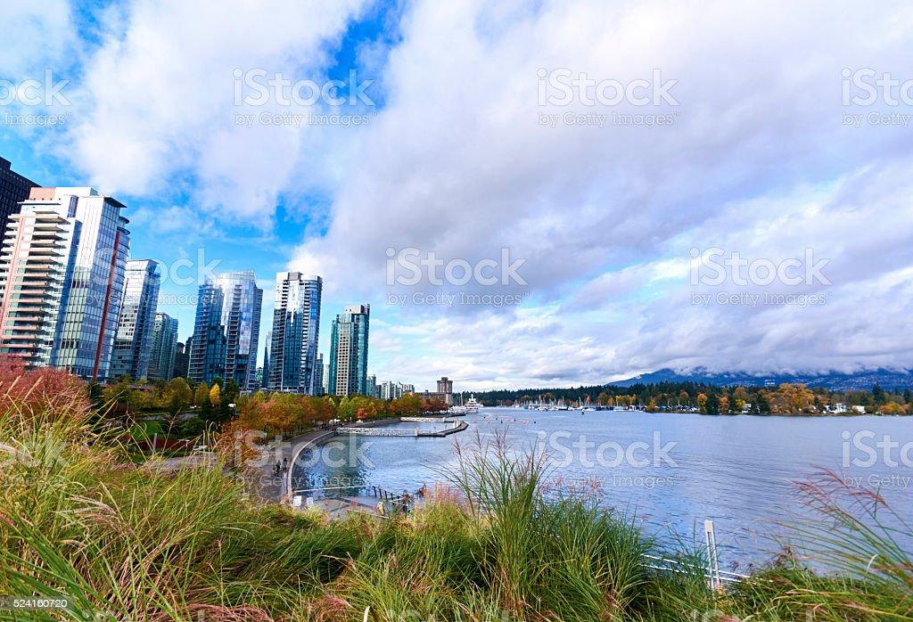 Vancouver Coal Harbour Marina stock photo