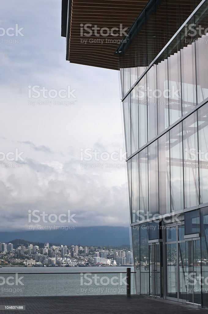 Vancouver Convention Center looking North royalty-free stock photo