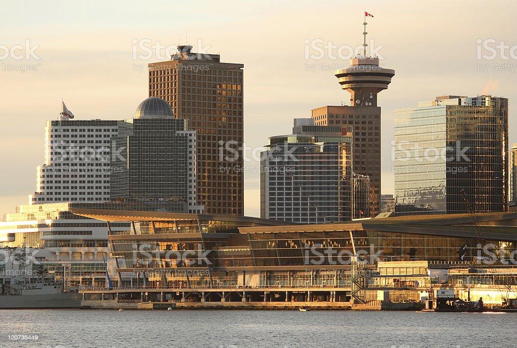 Vancouver Convention Center Morning Sun stock photo