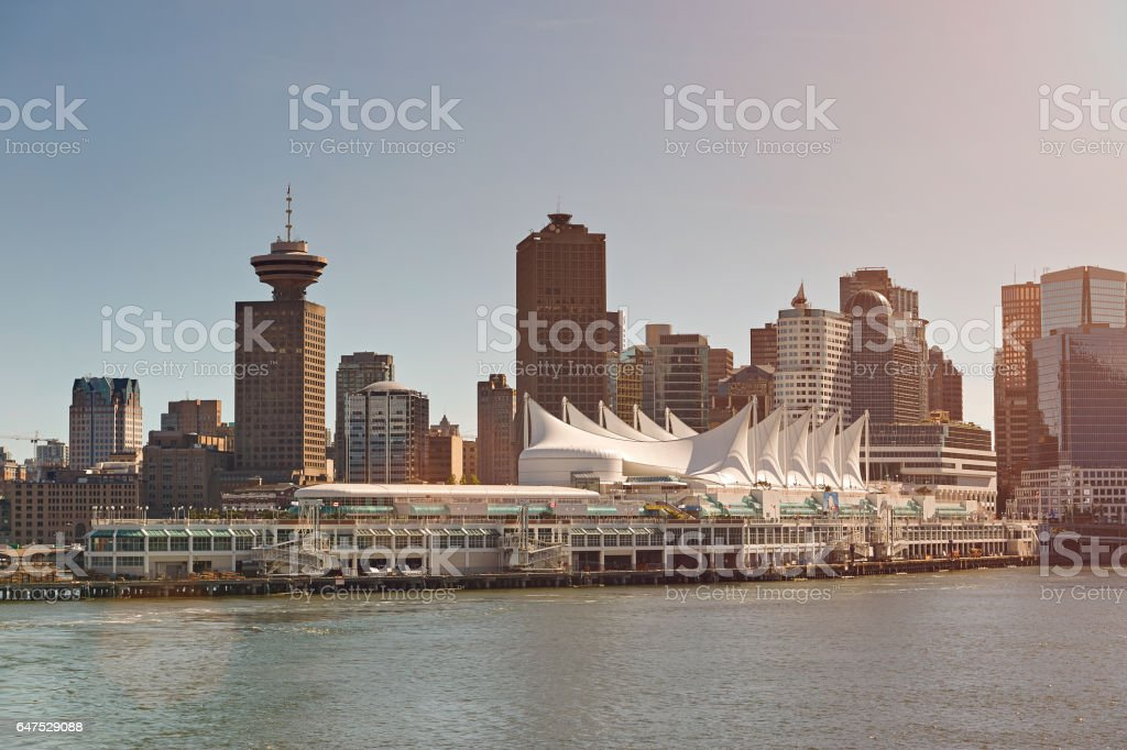 Vancouver cruise port stock photo