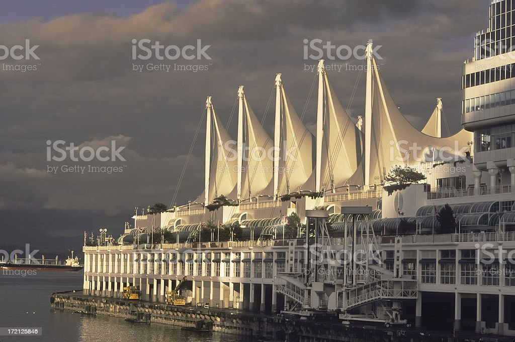 Vancouver cruise terminal at Canada Place. royalty-free stock photo
