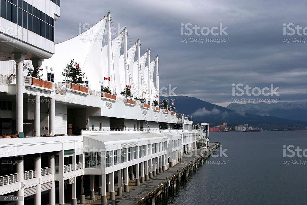 Vancouver: Cruiseship Dock royalty-free stock photo