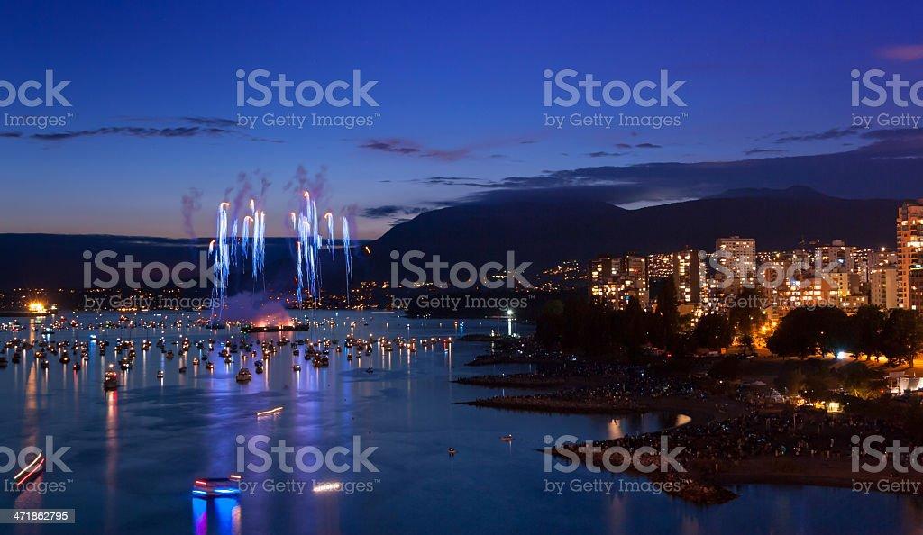 Vancouver Fireworks stock photo