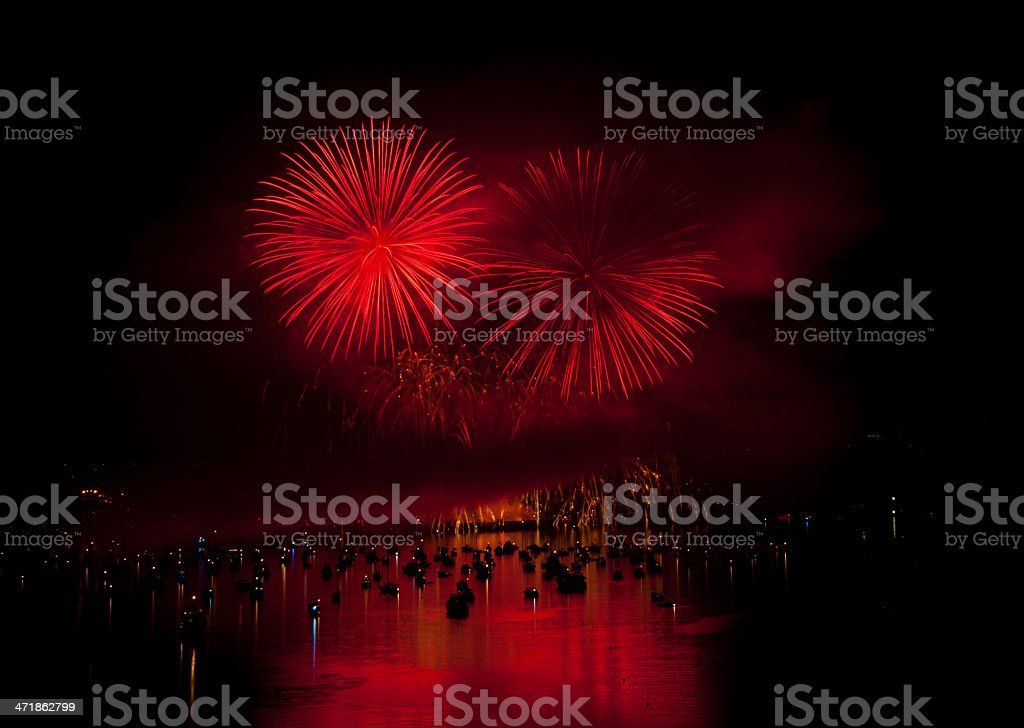 Vancouver Fireworks royalty-free stock photo