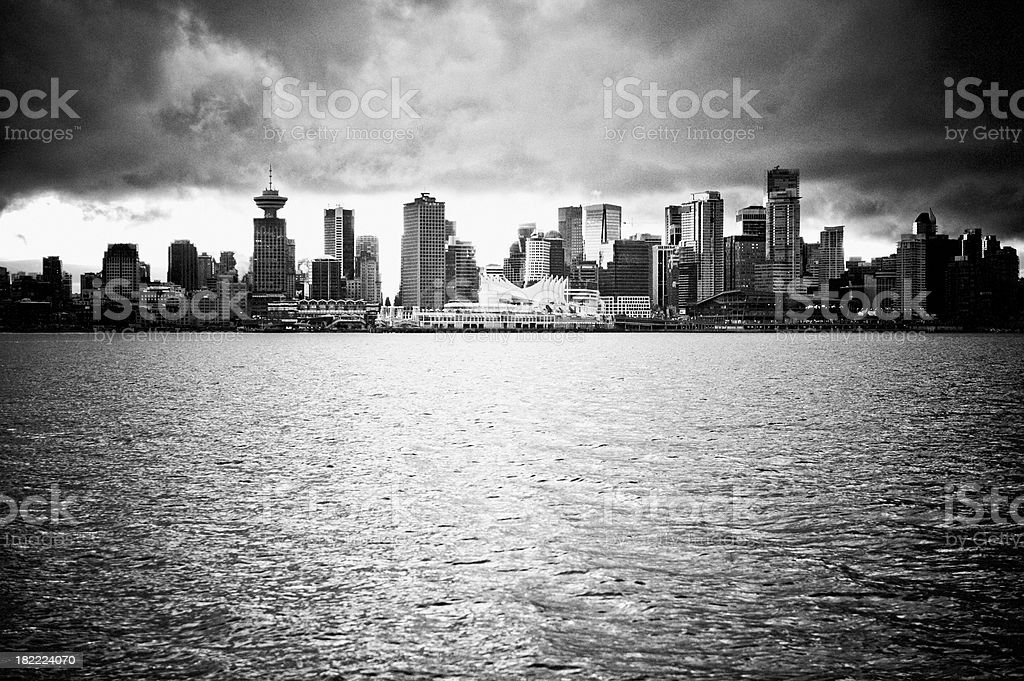 Vancouver From The Water stock photo