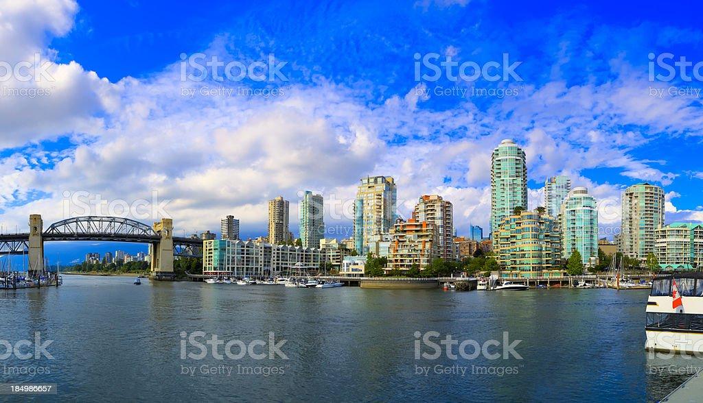 Vancouver Harbor Panorama stock photo