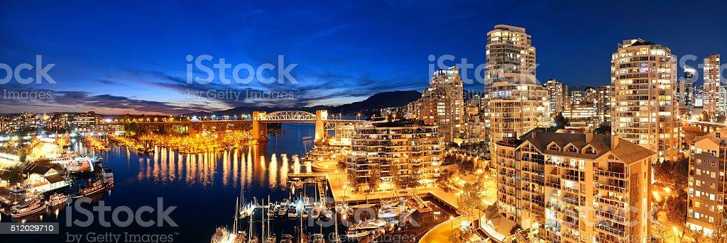 Vancouver harbor view stock photo