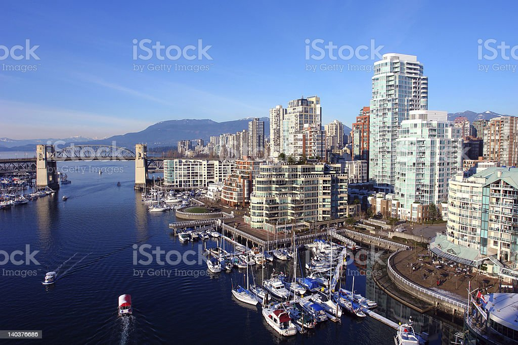 Vancouver Harbour stock photo