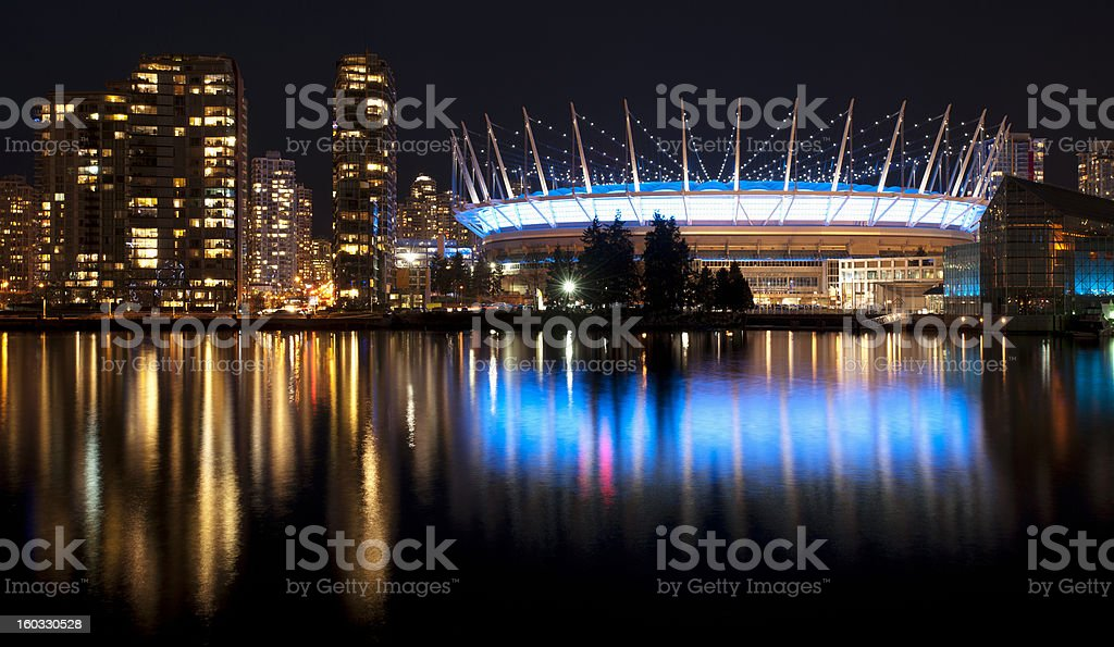 Vancouver in the night royalty-free stock photo