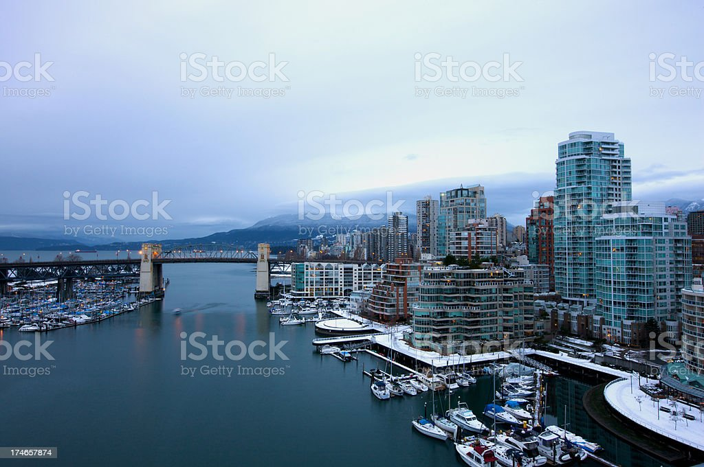 Vancouver in Winter royalty-free stock photo