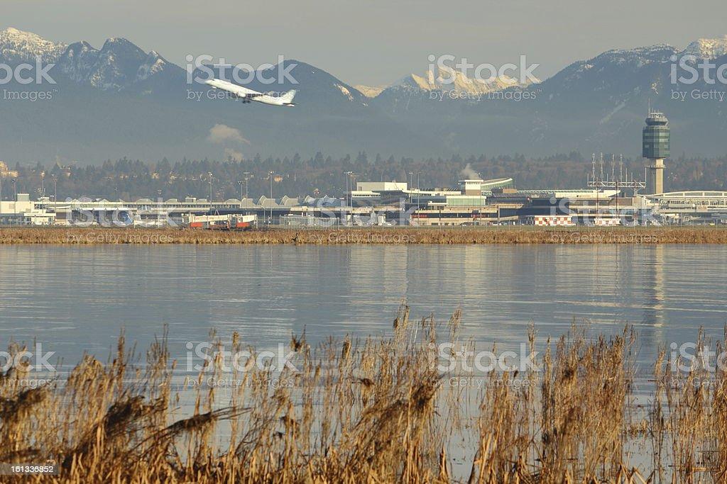 Vancouver International Airport, YVR stock photo