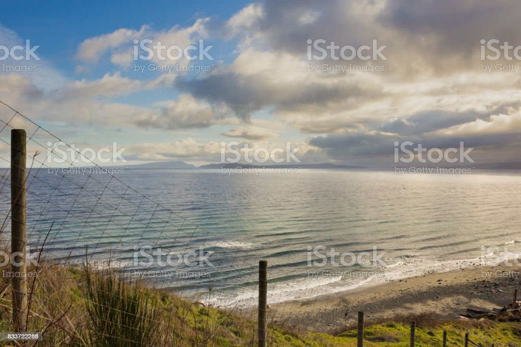 Vancouver Island coastal view from bluff stock photo
