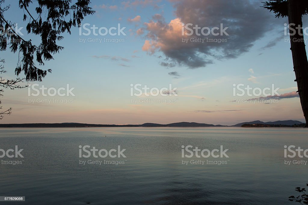 Vancouver Island Sunset stock photo