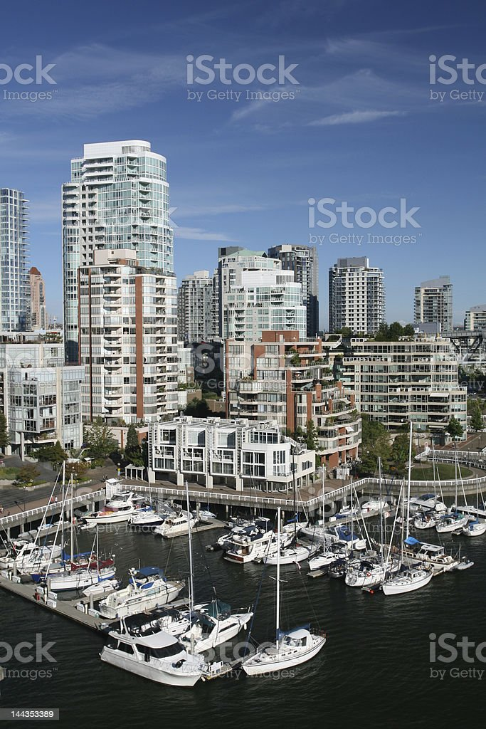 Vancouver Marina royalty-free stock photo