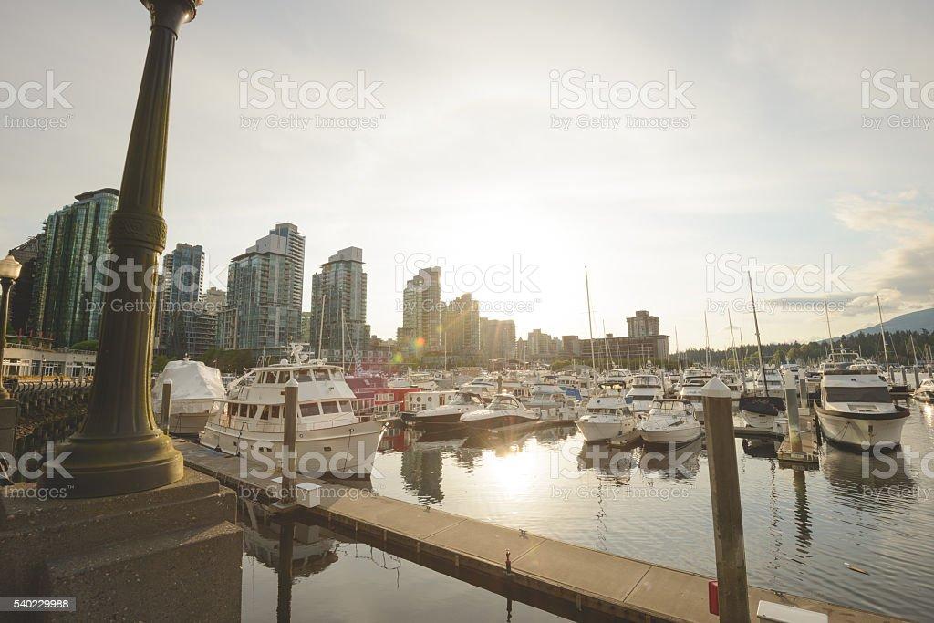 Vancouver marina stock photo