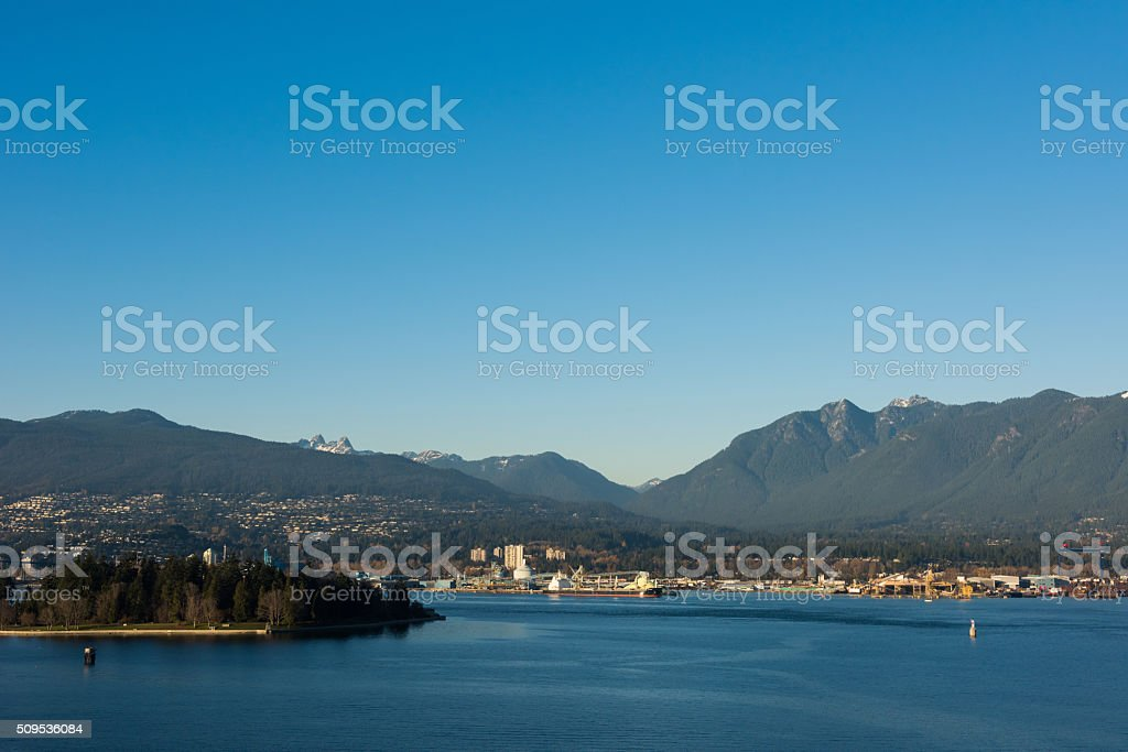 Vancouver on the Burrard Inlet stock photo