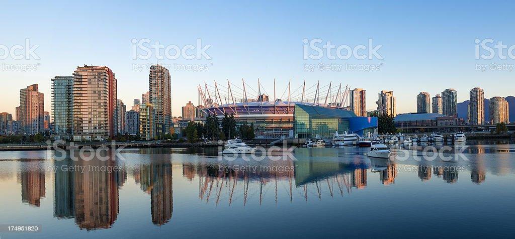 Vancouver Panorama at Sunrise stock photo