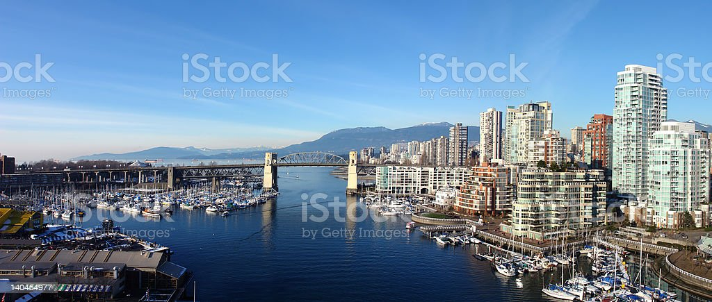 Vancouver Panoramic stock photo