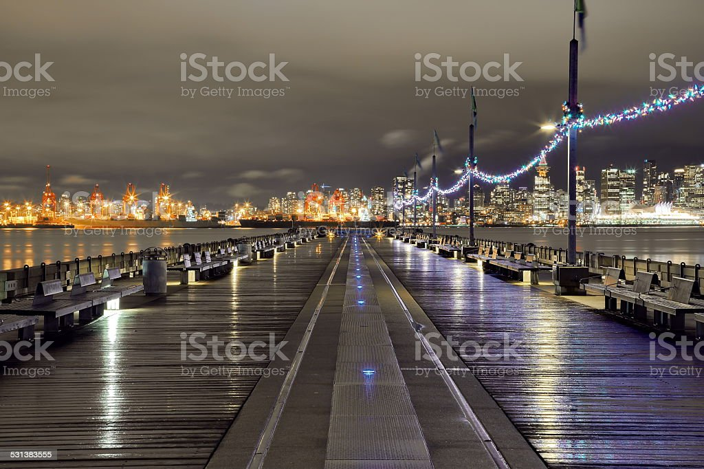 Vancouver Port and Downtown stock photo